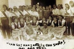Grupo de paloteo. Subida 1950